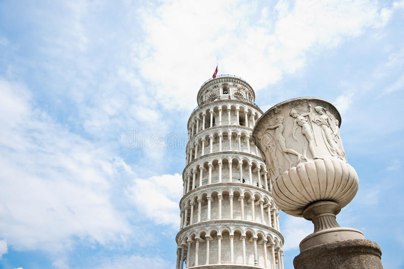 Download Sculptured Urn And Leaning Tower Of Pisa Stock Image - Image: 20505815