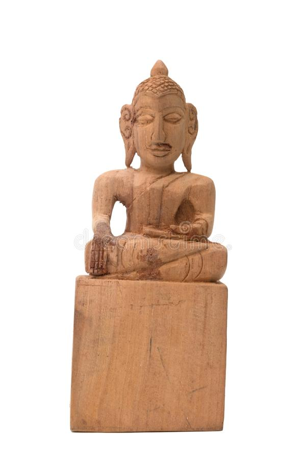 Sculptured Wood Buddha stock photography