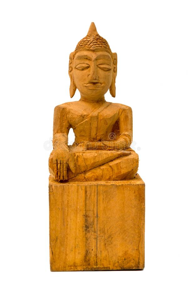 Sculptured Wood Buddha stock image