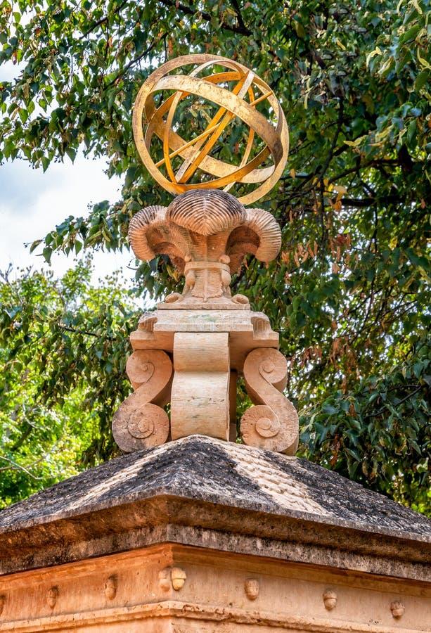 Sculpturein di The Guardian il giardino botanico di Chicago, Glencoe, U.S.A. fotografia stock libera da diritti