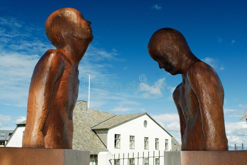 Sculptures à Reykjavik, Islande image stock