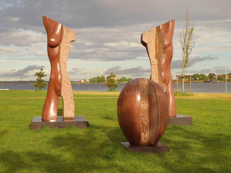 Sculptures abstraites de Karlskrona images libres de droits