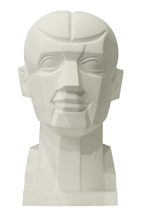 Sculptures anatomy head for drawing stock image
