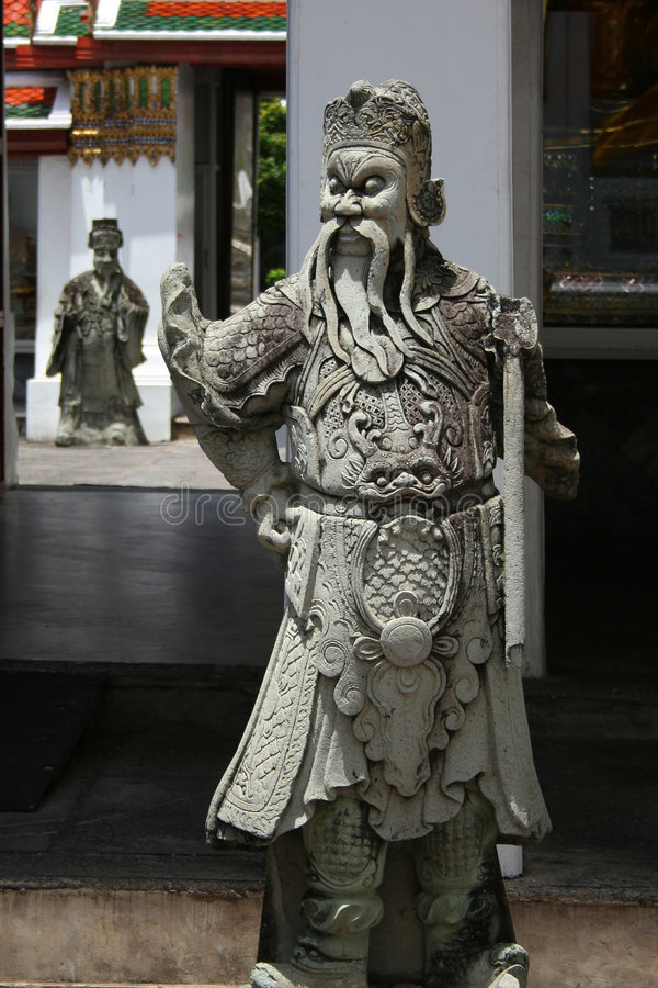 Sculptures Of Chinese Warriors Stock Photos