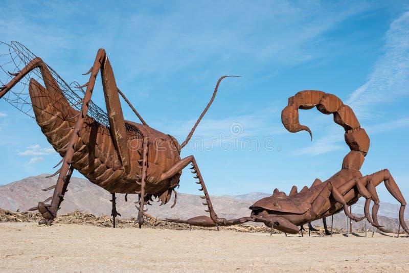 Sculptures dans des prés de Galleta photo libre de droits