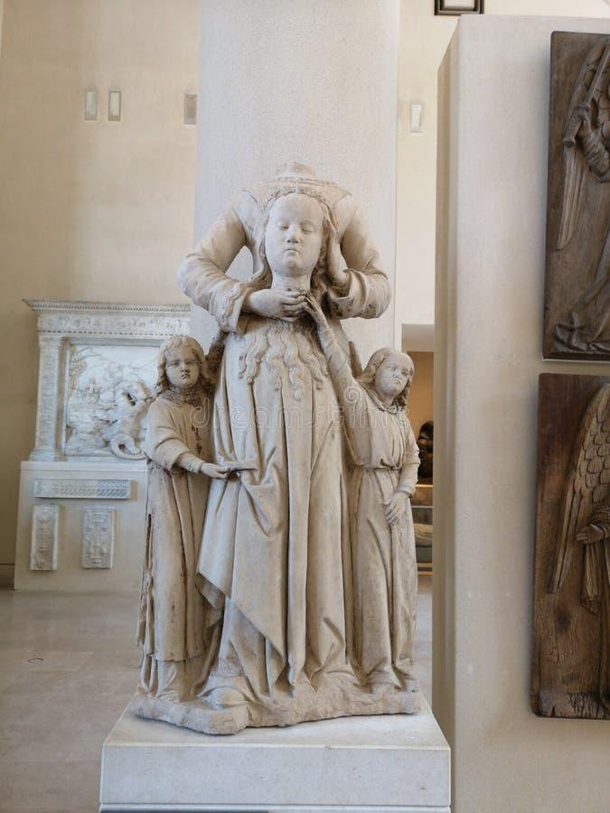Sculptures dans le musée de Louvre à Paris, France photographie stock libre de droits