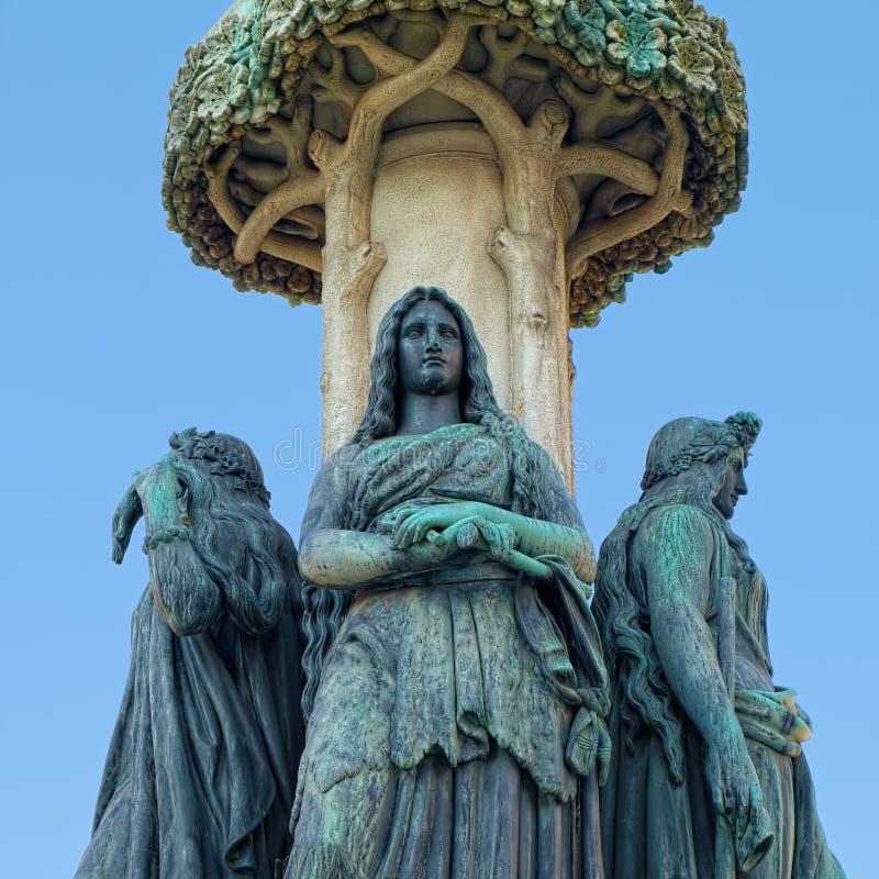 Sculptures de fontaine d'Austriabruns Autriche, Vienne photo stock