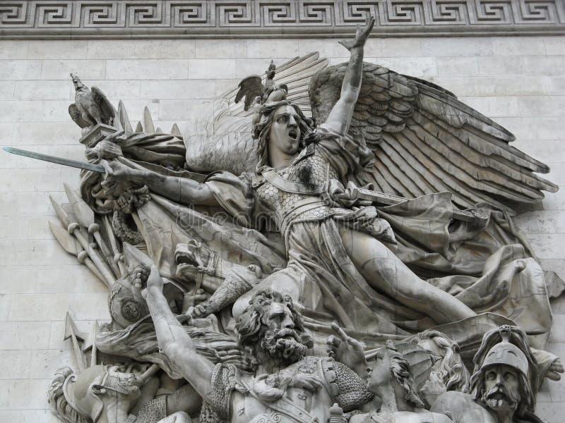 Sculptures de la voûte française de Triump images stock