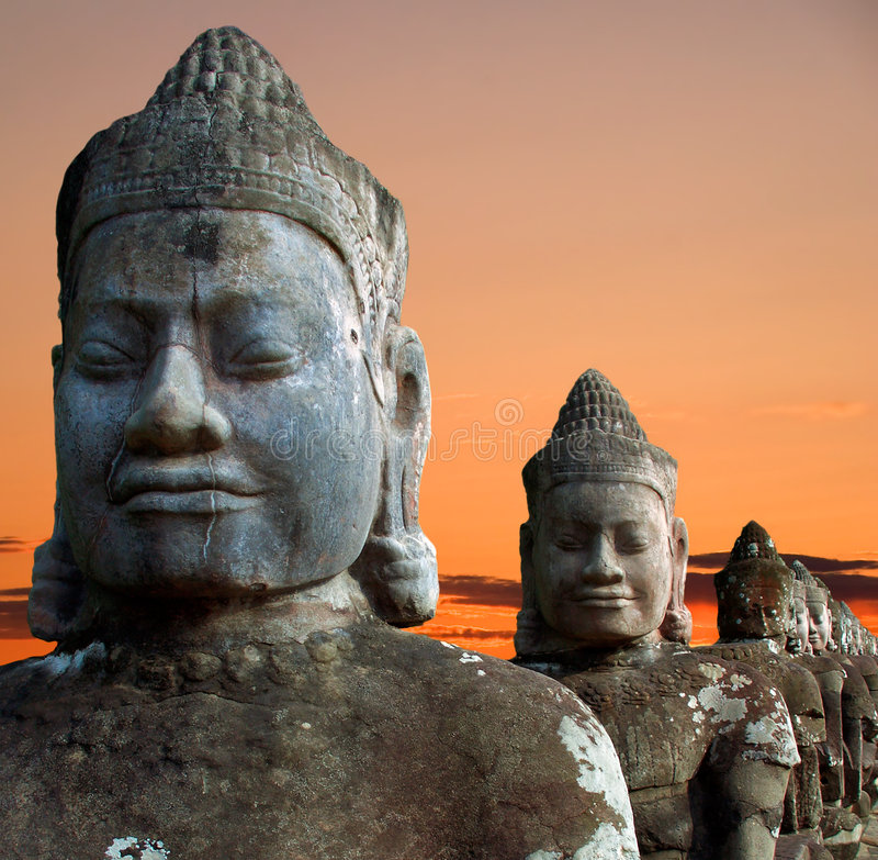 Download Sculptures Of Demons Of Asia Stock Image - Image: 9089779