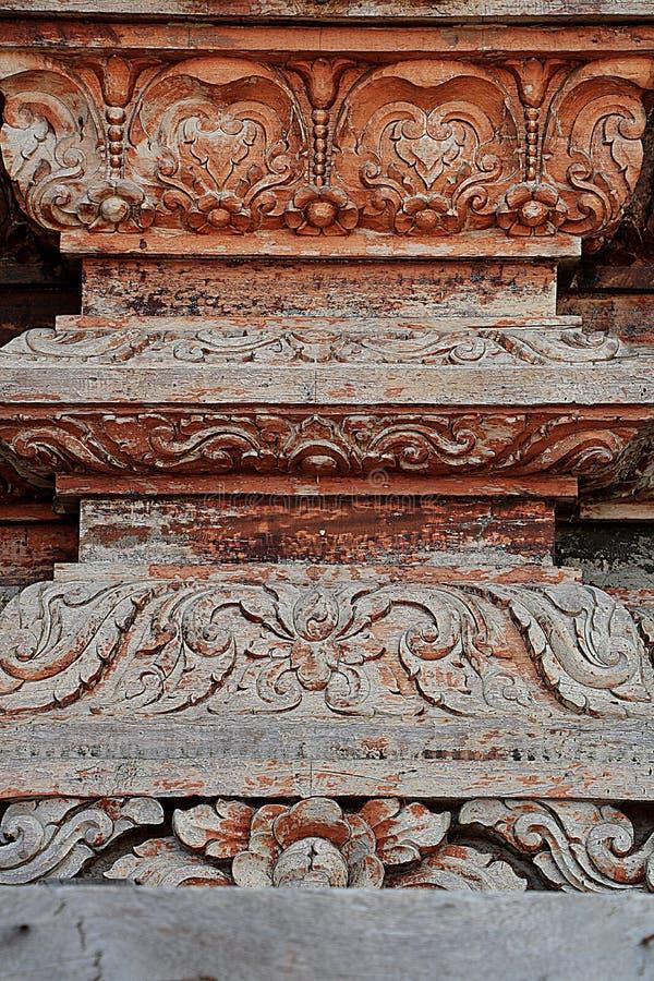 Sculptures en bois découpées dans le monde Sanctuaire de la vérité, Pattaya, Thaïlande images libres de droits
