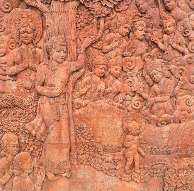 Sculptures en Bouddha dans le temple photos libres de droits