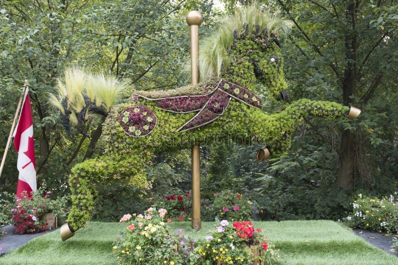 Sculptures en Eco, vivantes dans Burnaby images stock