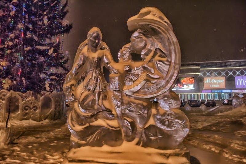 Sculptures en glace photos libres de droits