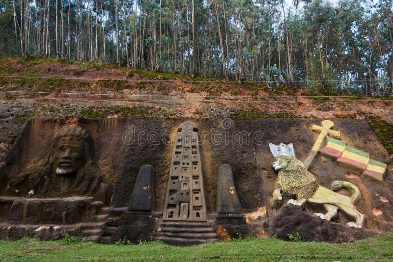 Sculptures en Rastafarian en Ethiopie photo stock