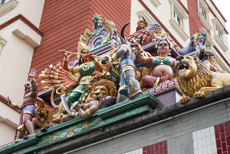 Sculptures en temple hindou images libres de droits