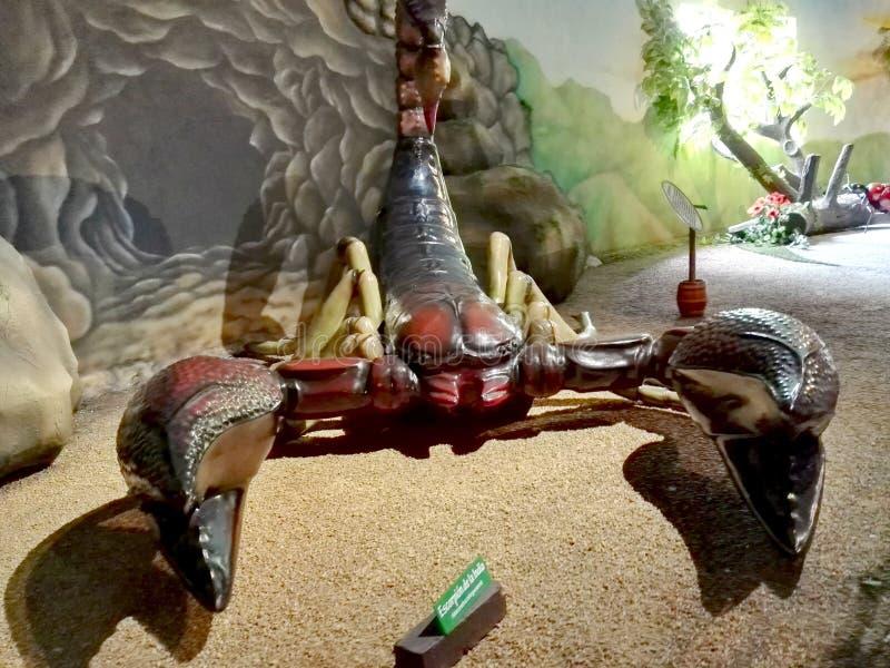 Sculptures géantes en scorpion en parc Jaime Duque images libres de droits