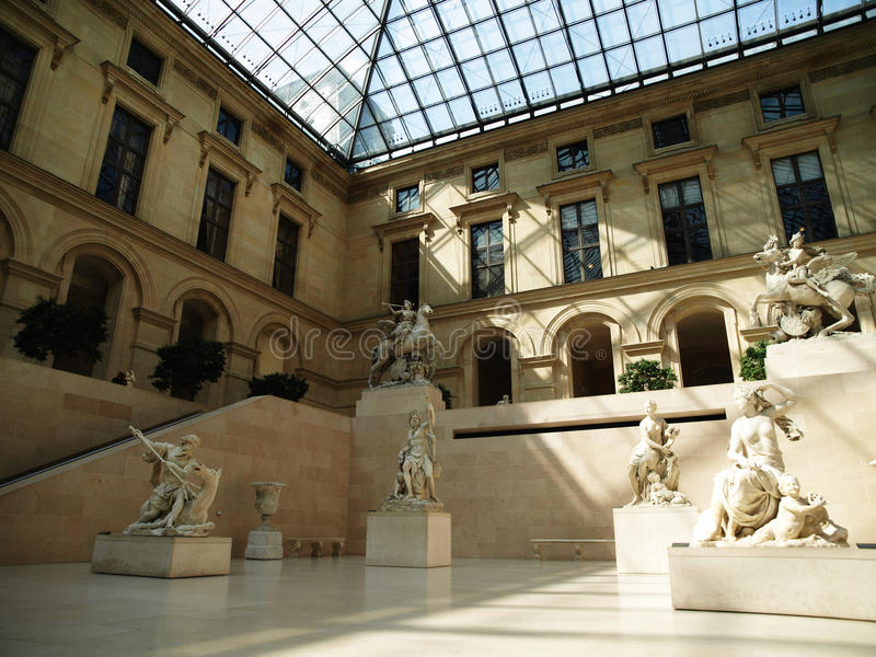 Sculptures grecques dans le Louvre photo libre de droits
