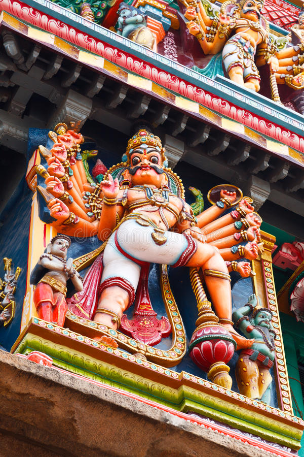 Download Sculptures On Hindu Temple Tower Royalty Free Stock Photo - Image: 18537755
