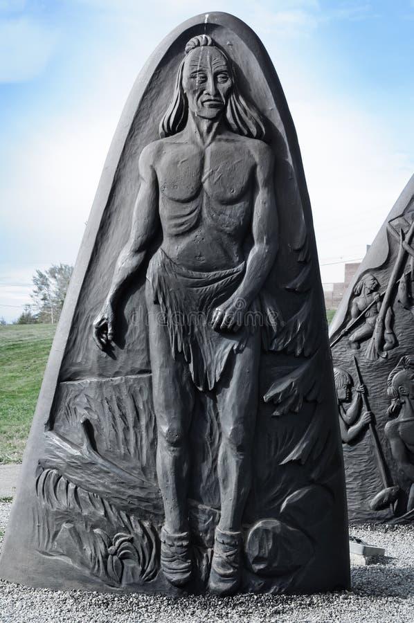 Sculptures historiques en fonte de Gaspé photographie stock