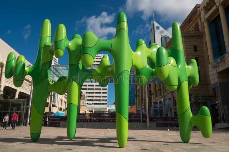 Sculptures modernes à Perth images stock