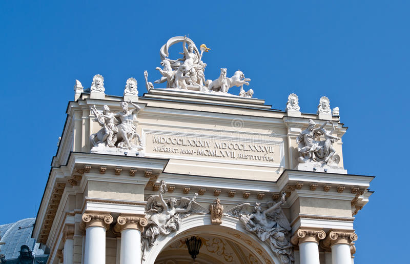 Download Sculptures On The Odessa Opera And Ballet Theater Stock Image - Image: 24558633