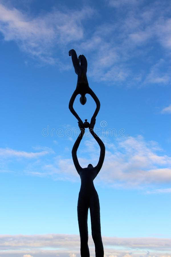 Sculptures by the sea Cottesloe beach Perth royalty free stock image