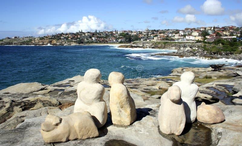 Sculptures by the Sea, Sydney, Australia royalty free stock photos