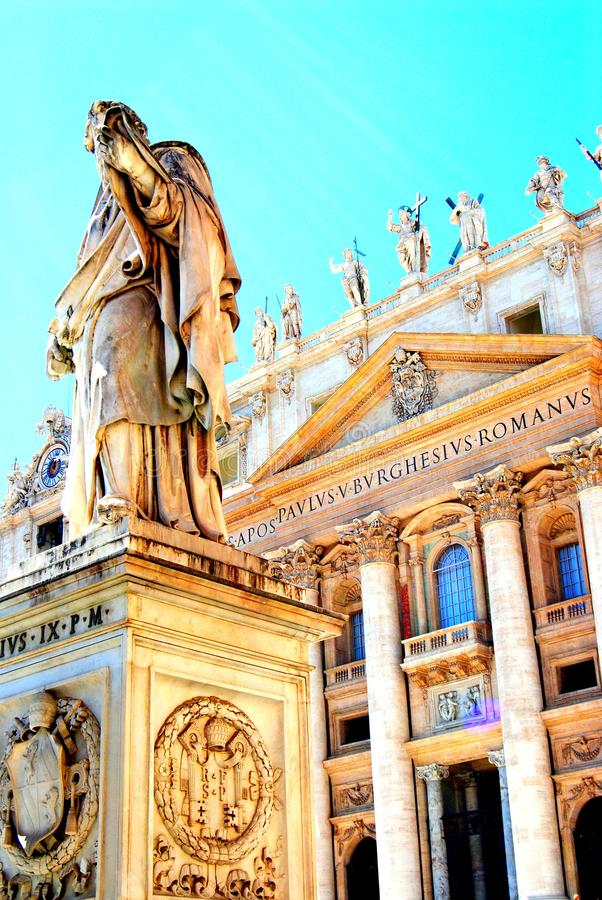 Sculptures in St. Peter Cathedral, Vatican city, Rome, Italy. royalty free stock image
