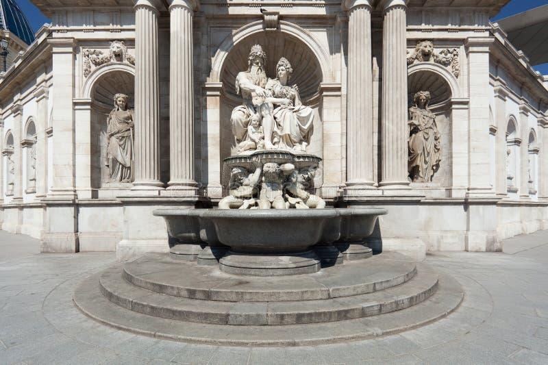 Sculpure in Albertina, Wenen stock foto's
