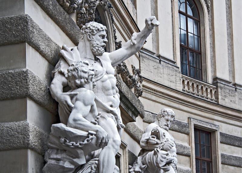 Sculpure met Hercules stock foto