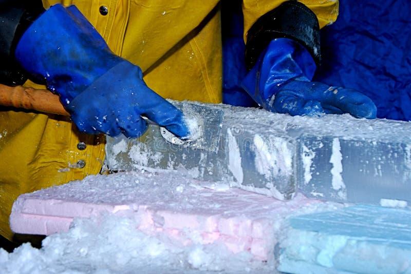 Scultore del ghiaccio fotografia stock