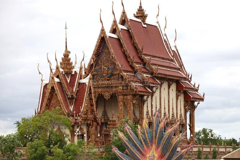 Scultura, architettura e simboli di buddismo, Tailandia fotografie stock libere da diritti