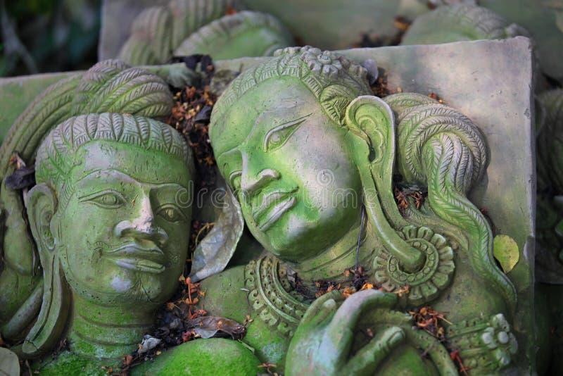 Scultura, architettura e simboli di buddismo, Tailandia immagine stock