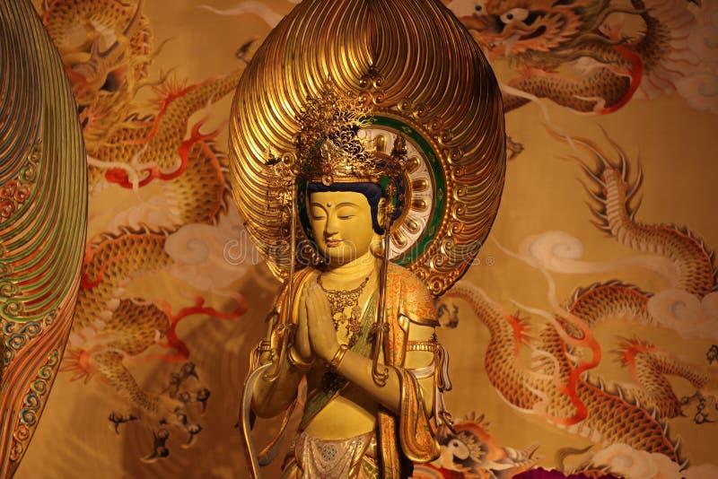 Scultura, architettura e simboli di Hinduismo e di buddismo immagine stock libera da diritti