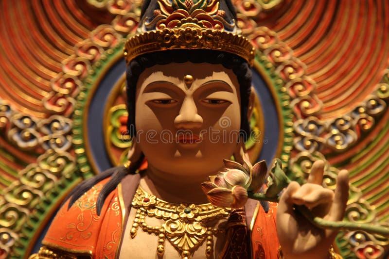 Scultura, architettura e simboli di Hinduismo e di buddismo immagine stock