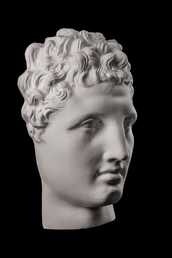 Scultura bianca del busto del gesso di un uomo Hermes fotografie stock