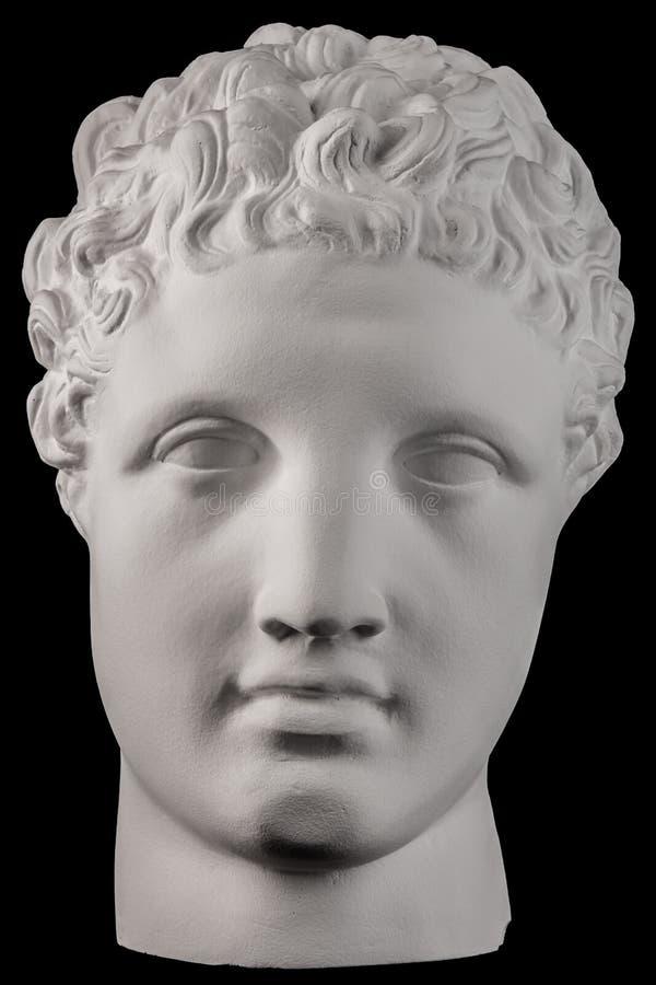 Scultura bianca del busto del gesso di un uomo Hermes immagini stock