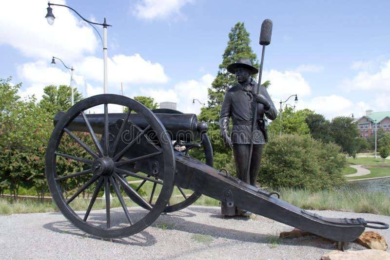 Scultura bronzea a Oklahoma City fotografie stock libere da diritti
