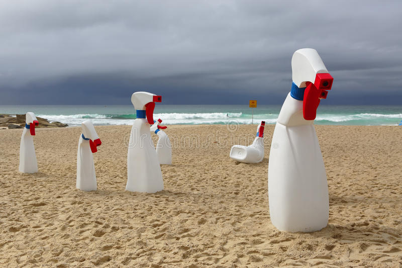 Scultura dal marino le bottiglie immagini stock libere da diritti