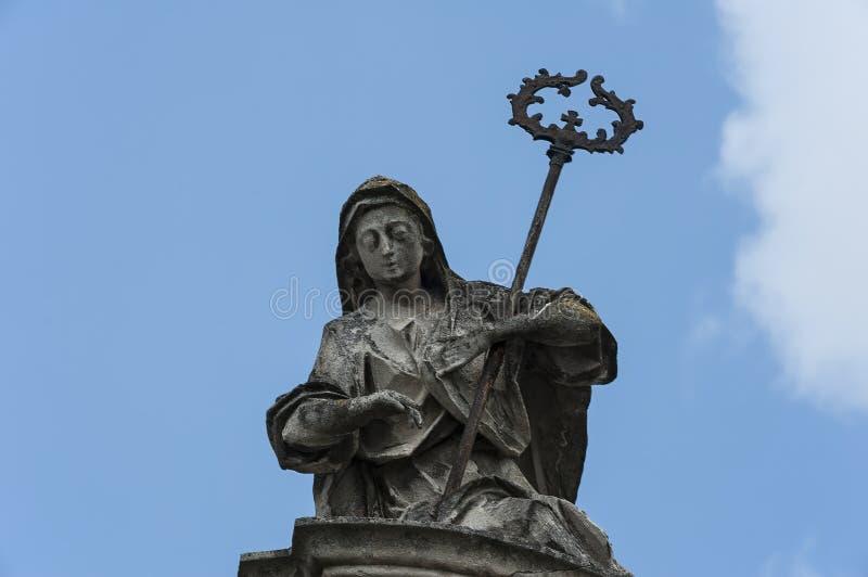 Scultura dei portoni della cattedrale del ` s di St George a Leopoli, Ucraina fotografia stock libera da diritti