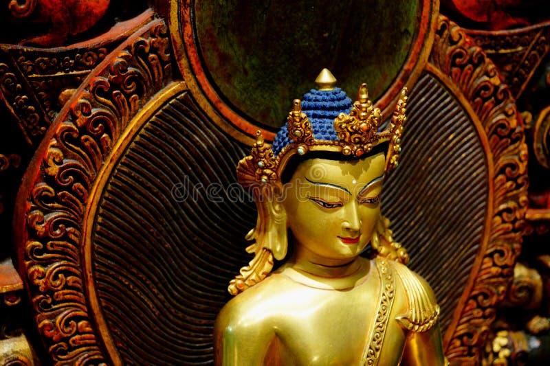 Scultura del Buddha Shakyamuni immagini stock libere da diritti
