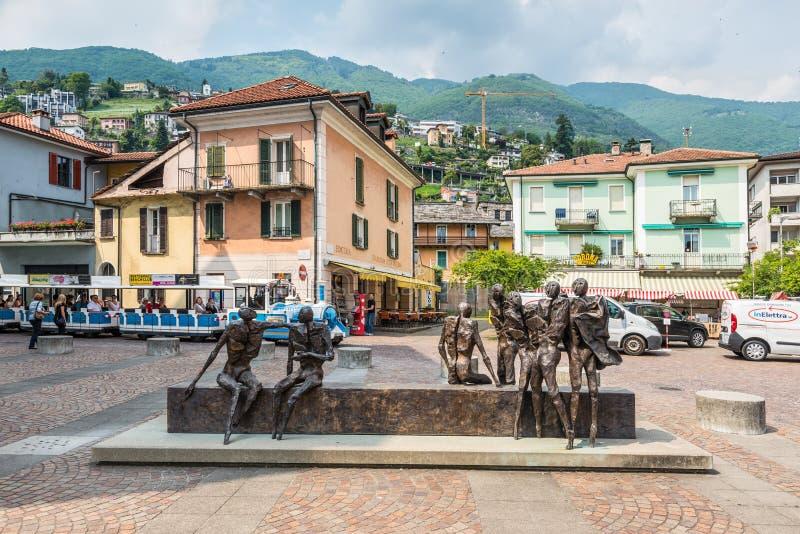 Scultura del ferro di Locarno a Locarno, Svizzera immagini stock