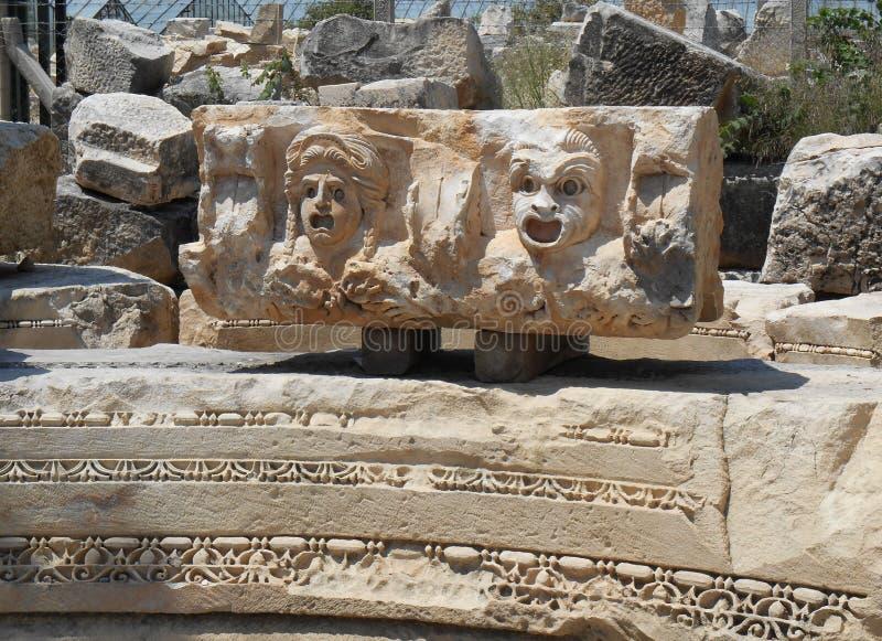Scultura del greco antico in Turchia fotografia stock libera da diritti