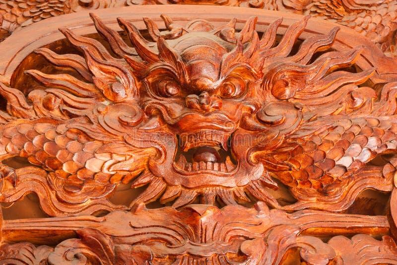 Scultura del legno per il drago immagini stock libere da diritti