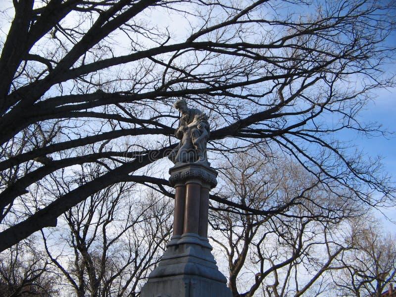 Scultura del monumento/buon samaritano dell'etere, giardino pubblico di Boston, Boston, Massachusetts, U.S.A. fotografie stock