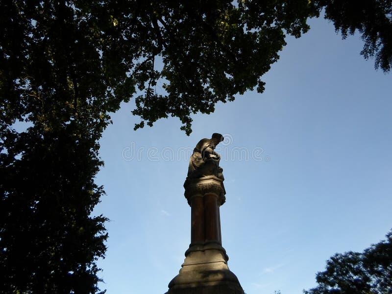 Scultura del monumento/buon samaritano dell'etere, giardino pubblico di Boston, Boston, Massachusetts, U.S.A. immagini stock