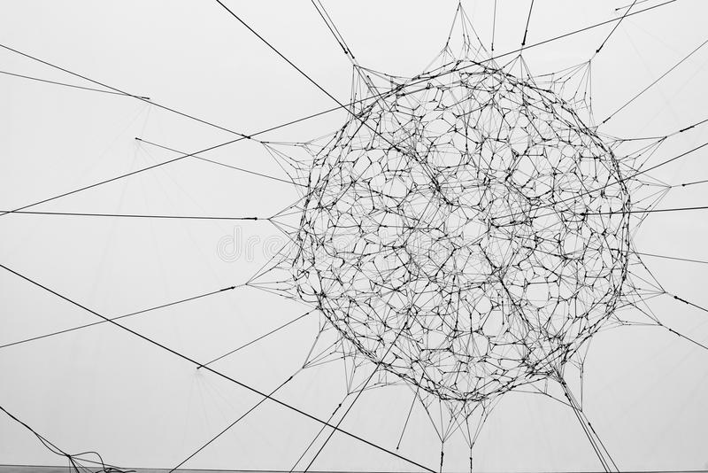 Scultura del ` s di Tomas Saraceno fotografia stock libera da diritti