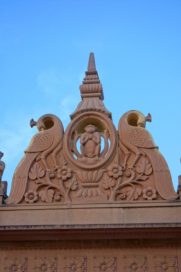 Scultura del tempio della scimmia immagini stock libere da diritti