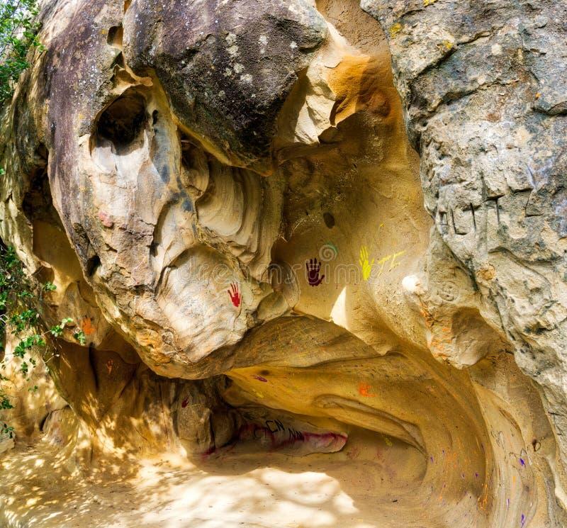 Scultura del toro della roccia di Diablo Park del supporto immagini stock