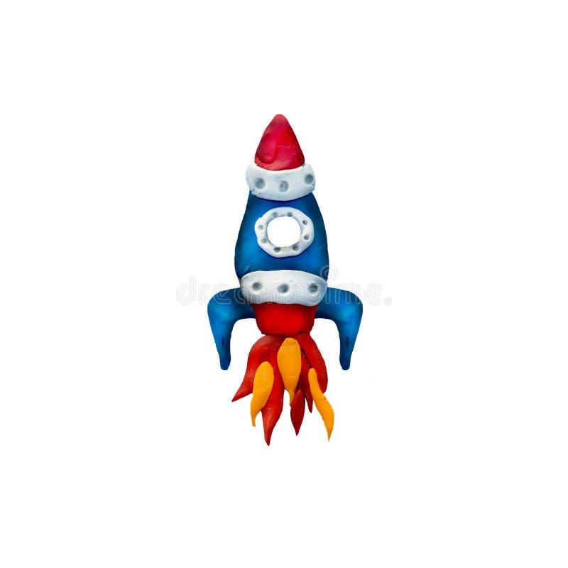 Scultura dell'astronave della plastilina 3D royalty illustrazione gratis